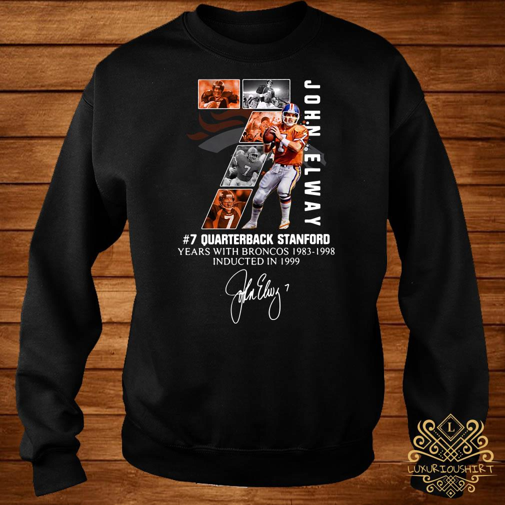 7 John Elway Quarterback Stanford years with Broncos 1983-1998-Recovered sweater