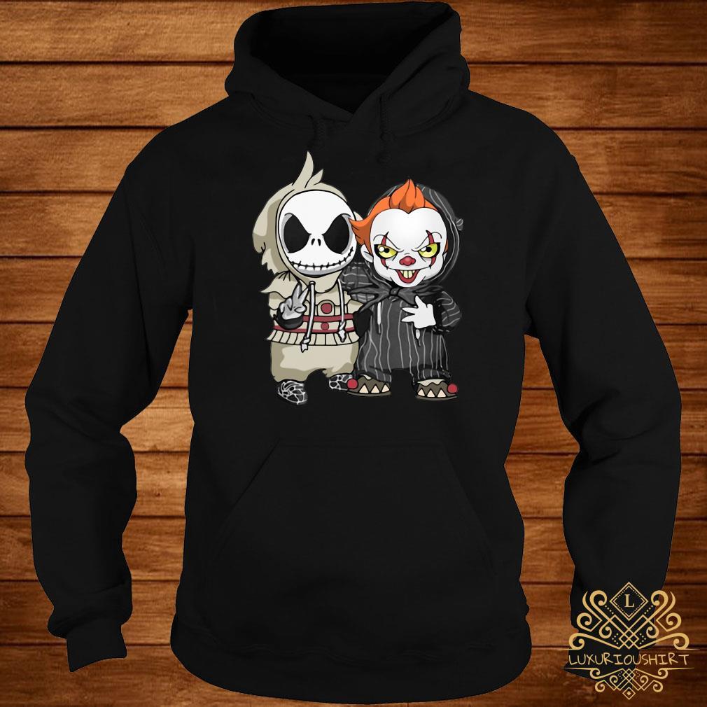 Baby Jack Skellington and baby Killer Clown hoodie