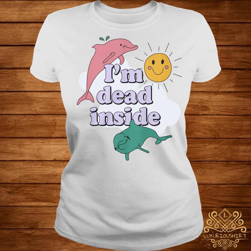 Dolphins I'm dead inside pastel ladies tee
