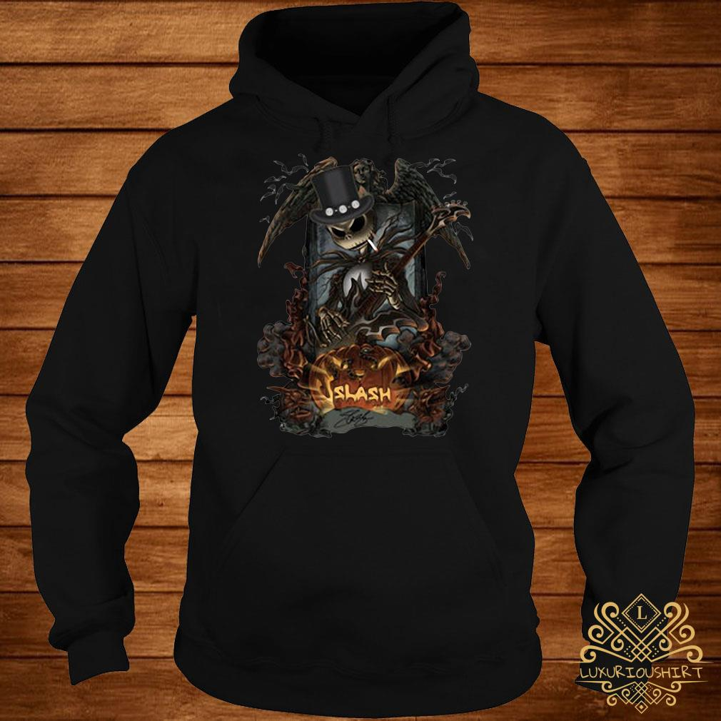 Halloween Jack Skellington smoking slash pumpkin hoodie