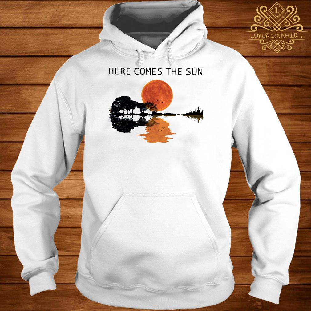 Sunset Guitar lake Here comes the sun hoodie