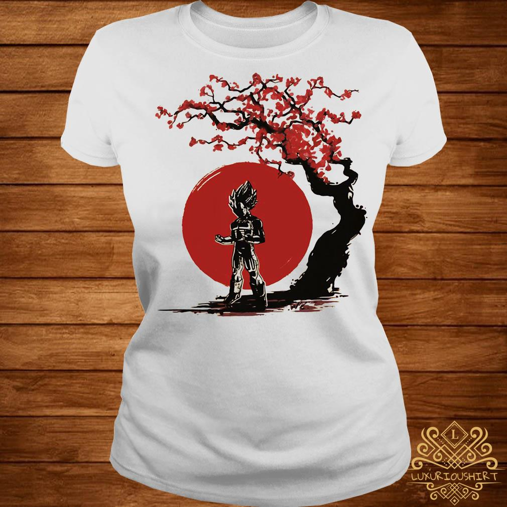 Vegeta cherry blossom ladies tee