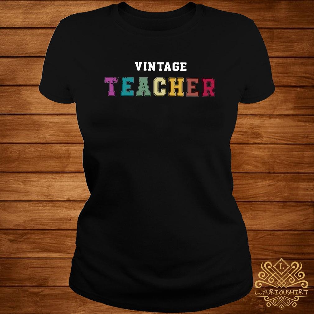 Vintage teacher ladies tee
