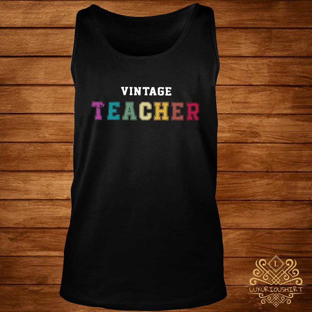 Vintage teacher tank-top