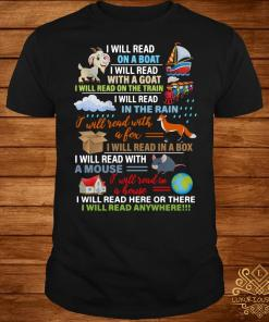 I will read on a boat I will read with a goat shirt