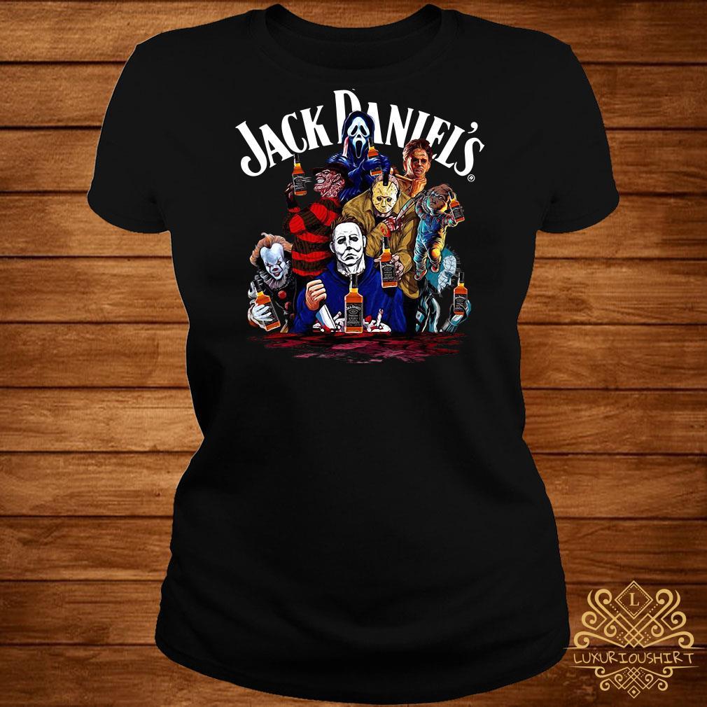 Horror character Jack Daniels whiskey ladies tee
