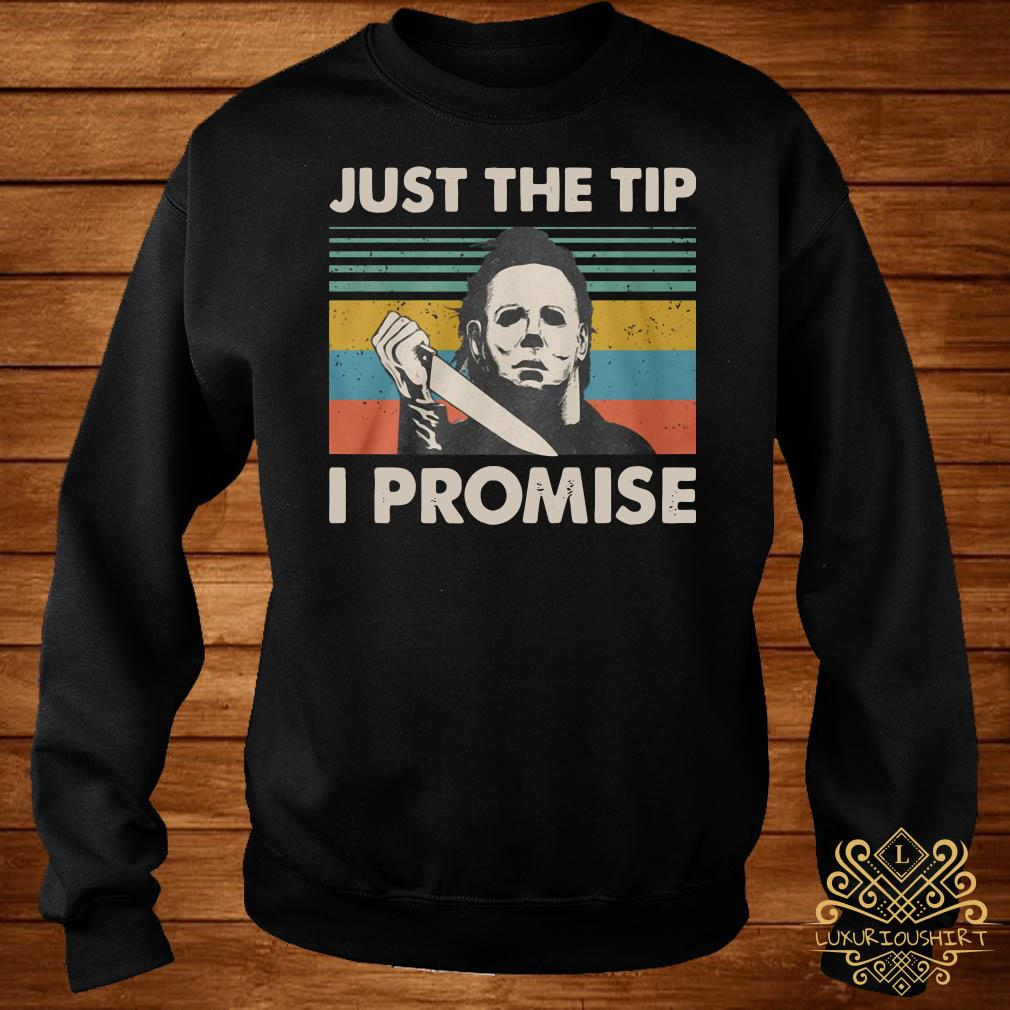 Michael Myers just the tip I promise vintage sweater