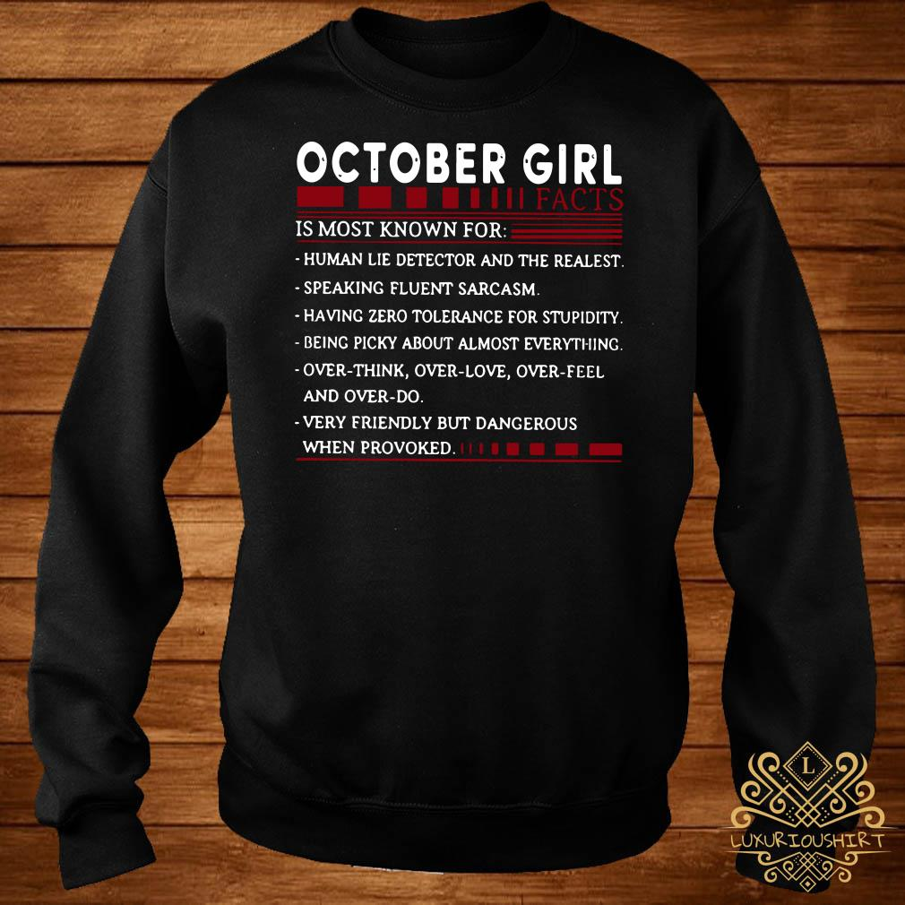 October Girl facts is most known for sweater