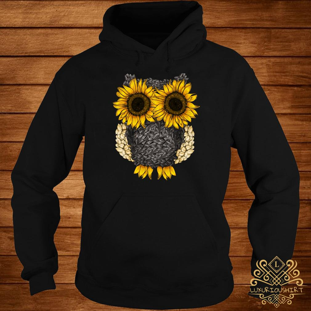 Owl by sunflower and seed hoodie