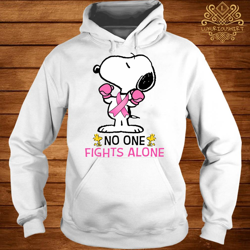 Snoopy no one fights alone hoodie