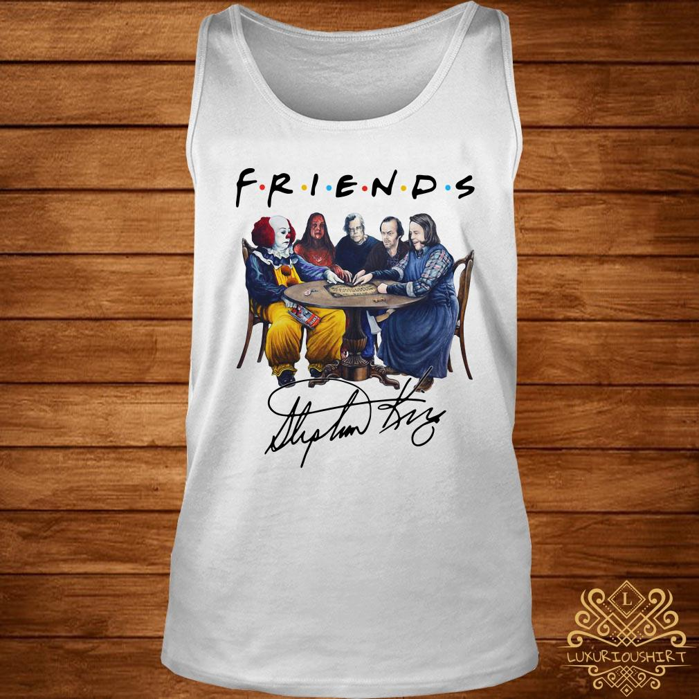 Stephen King horror characters Friends signature tank-top