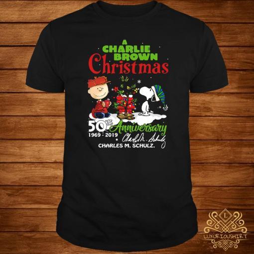 Charlie Brown Christmas 50th.A Charlie Brown Christmas 50th Anniversary 1969 2019 Signature Shirt