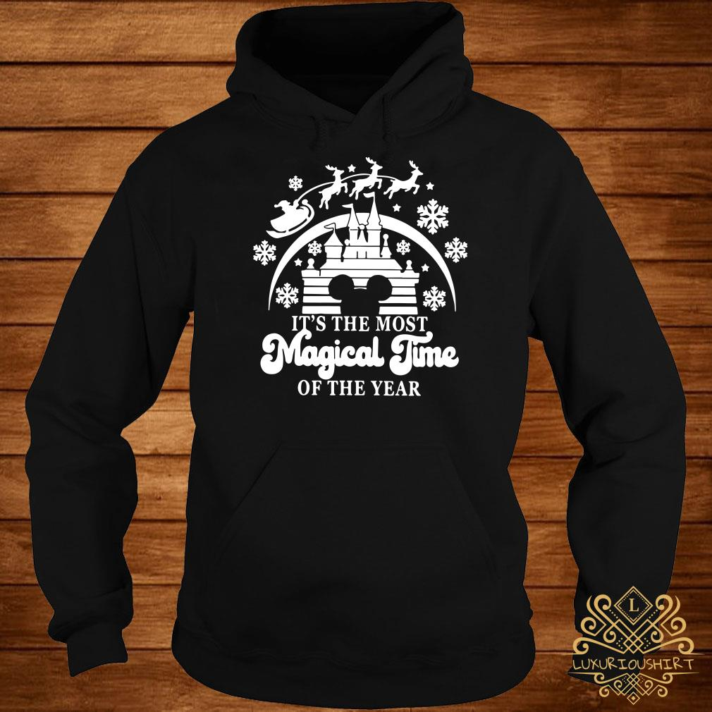Disney Mickey Head It's The Most Magical Time Of The Year Hoodie