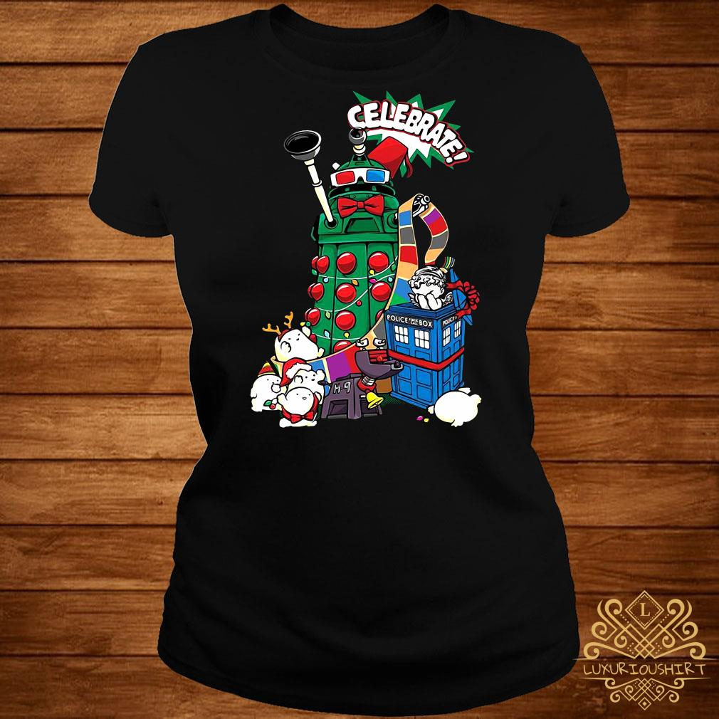 Doctor Who Celebrate Christmas ladies tee