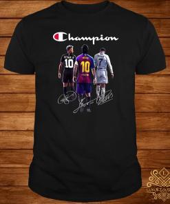Neymar Messi Ronaldo Champions Signatures Shirt