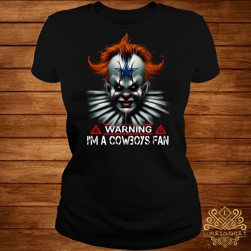 Pennywise warning I'm a Cowboys Fan ladies tee