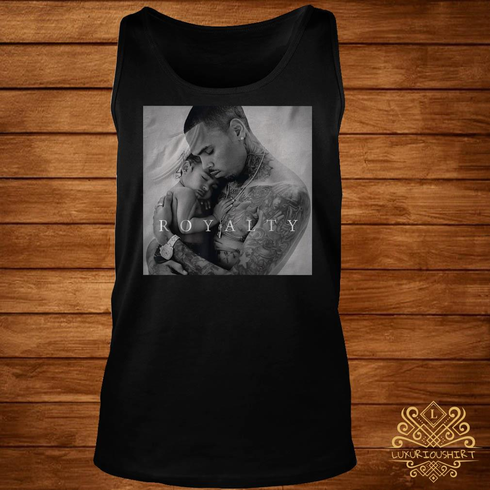 Royalty little more Chris Brown poster tank-top
