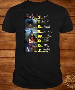 Star Wars Characters Signatures Shirt