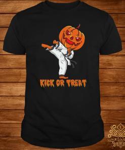 Taekwondo Kick Or Treat Pumpkin Halloween Shirt