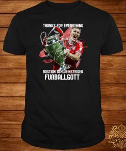 Thank For Everything Bastian Schweinsteiger Fussballgott Shirt
