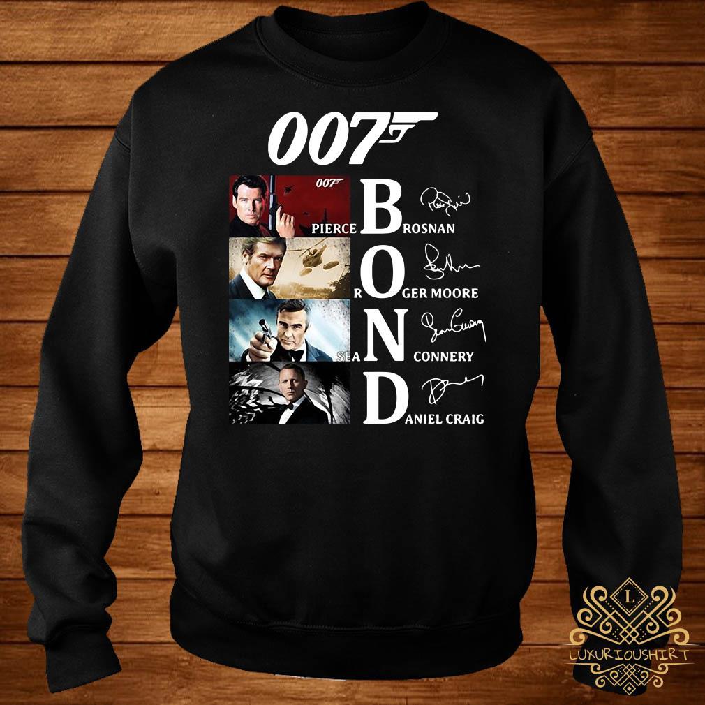 007 Pierce Brosnan Roger Moore Sean Connery Daniel Craig Signatures Sweater