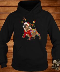 Bulldog Gorgeous Reindeer Light Christmas Hoodie