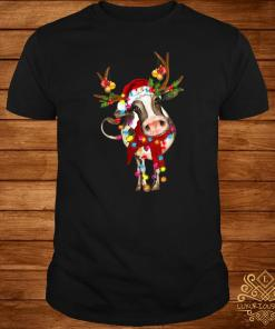 Cow Gorgeous Reindeer Light Christmas Shirt