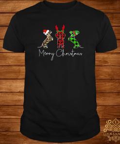 Dachshund Leopard Plaid Printed Merry Christmas Shirt