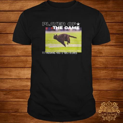 Dallas Cowboys Black Cat Player Of The Game 117 Rushing YSD 2 TDS 9 Lives Shirt