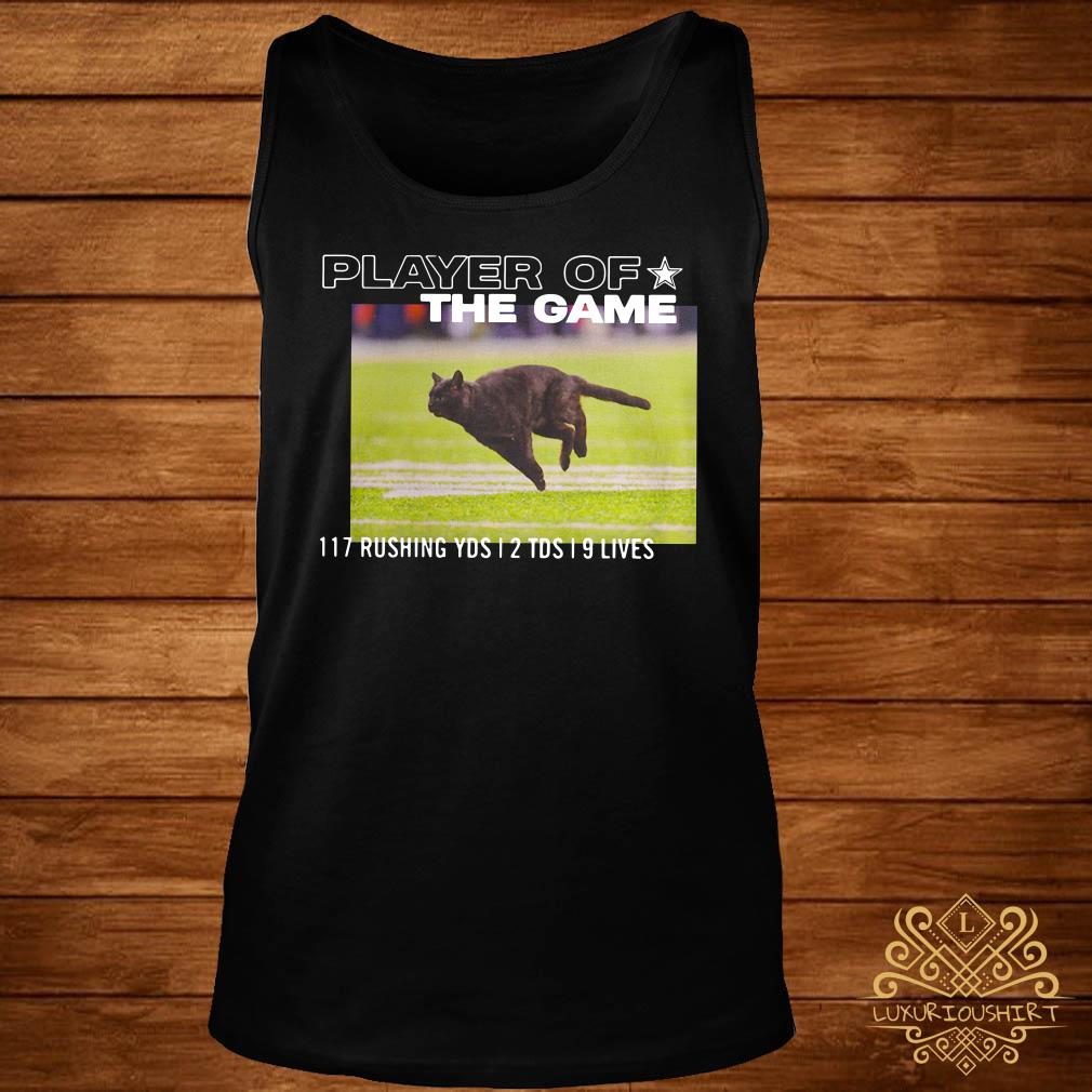 Dallas Cowboys Black Cat Player Of The Game 117 Rushing YSD 2 TDS 9 Lives Tank-top