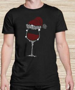 Diamond Wine Glasses Santa Hat Christmas Unisex
