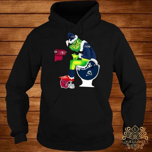 Grinch Seattle Seahawks San Francisco 49ers Los Angeles Rams Arizona Cardinals Toilet Hoodie