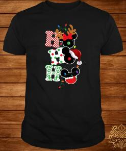 Ho Ho Ho Mickey Mouse Christmas Shirt