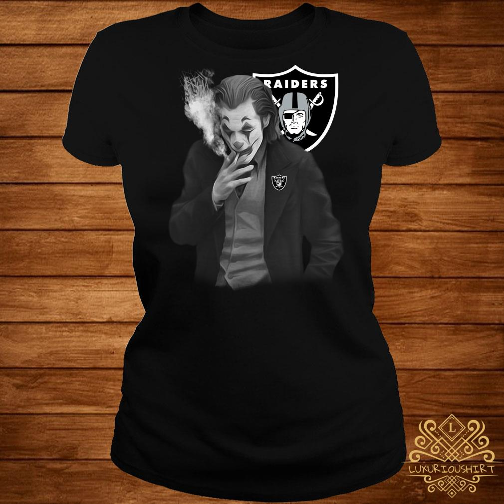 Joker Joaquin Phoenix Oakland Raiders Ladies Tee