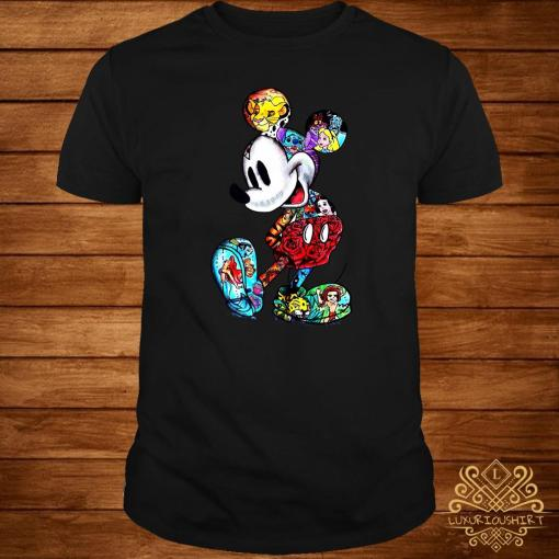 Mickey Mouse With Disney Tattoos Shirt