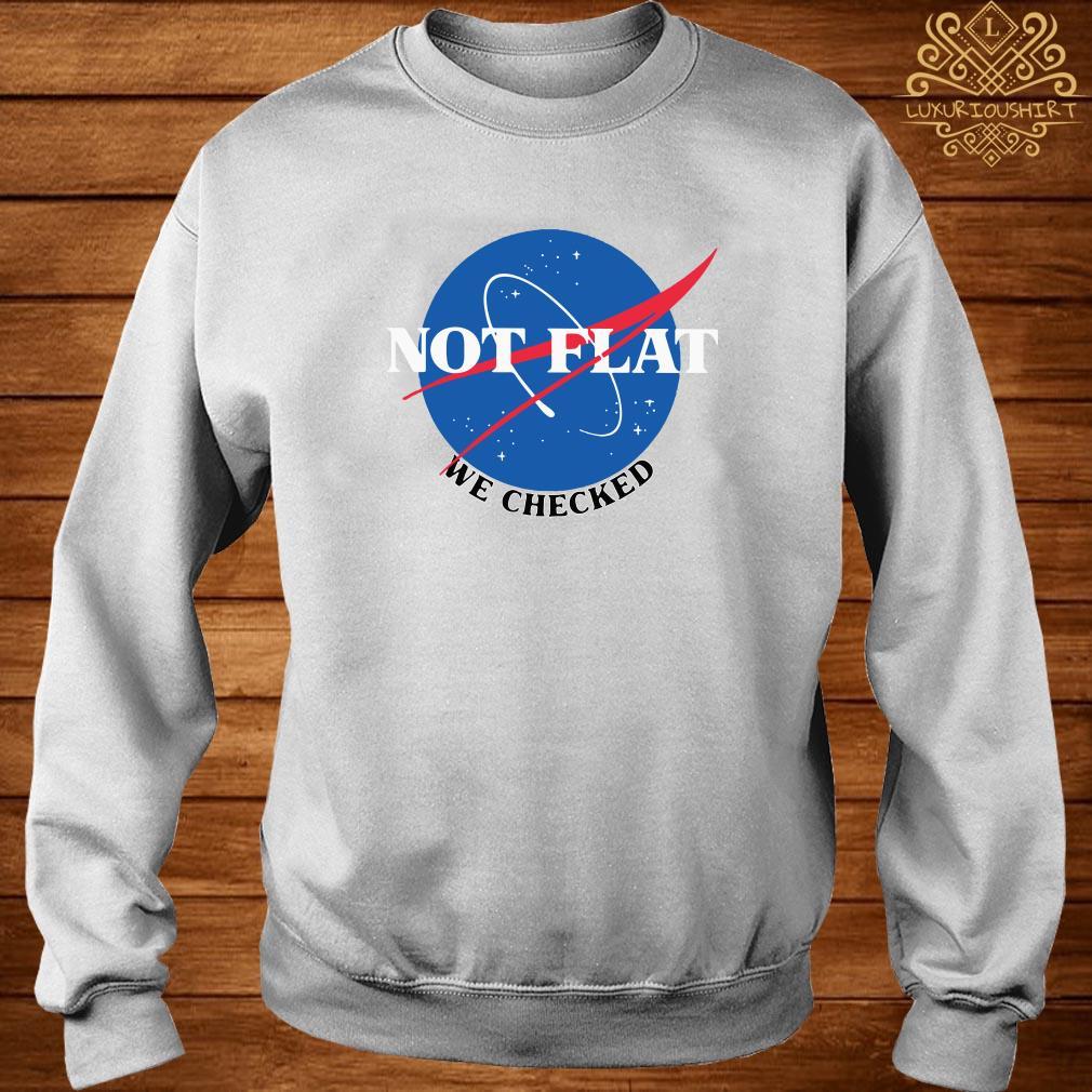 Nasa Not Flat We Checked Sweater
