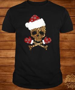 Santa Skull Leopard Christmas Shirt