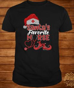 Santa's Favorite Nurse Diamond Christmas Shirt