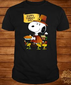 Snoopy And Woodstocks Happy Turkey Day Shirt
