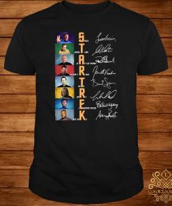 Star Trek Spock James T. Kirk Jean Luc Picard Signatures Shirt