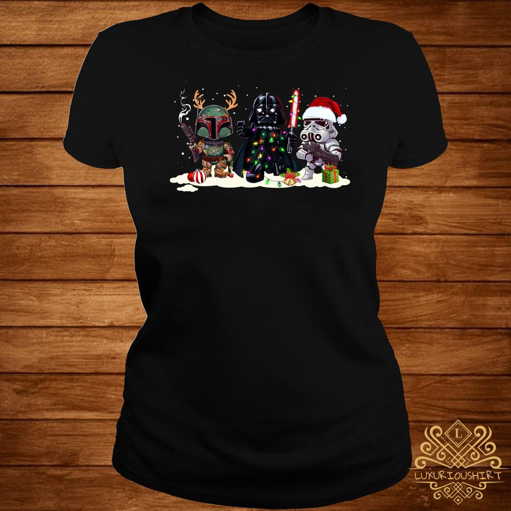 Star Wars Chibi Characters Christmas Ladies Tee