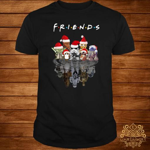 Star Wars Chibi Characters Water Reflection Mirror Friends Christmas Shirt