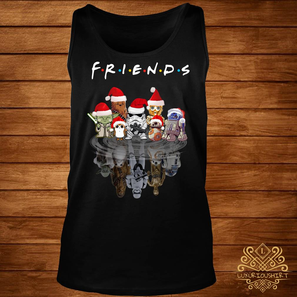 Star Wars Chibi Characters Water Reflection Mirror Friends Christmas Tank-top