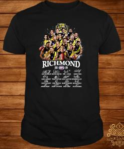 Tiger Richmond 2019 AFL Team Player Signatures Shirt