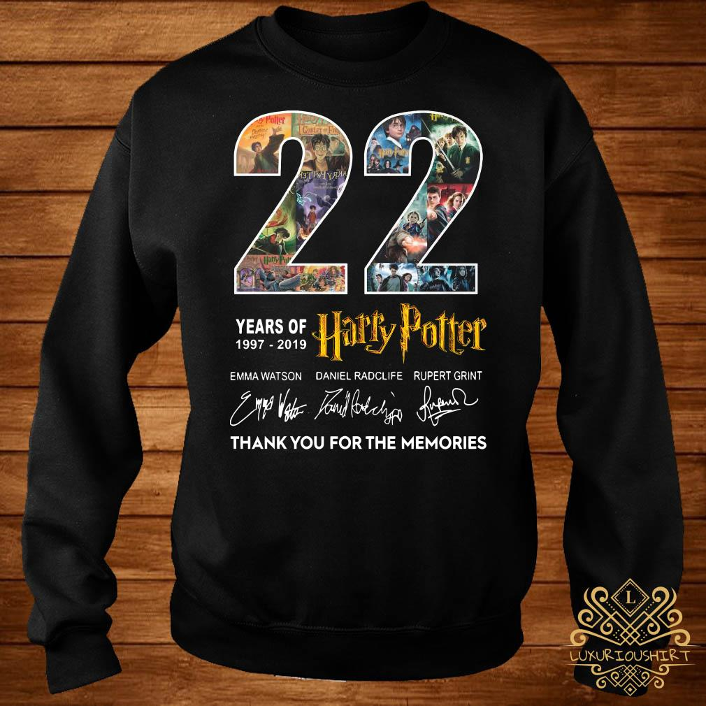 22 Years Of 1977-2019 Harry Potter Thank You For The Memories Sweater