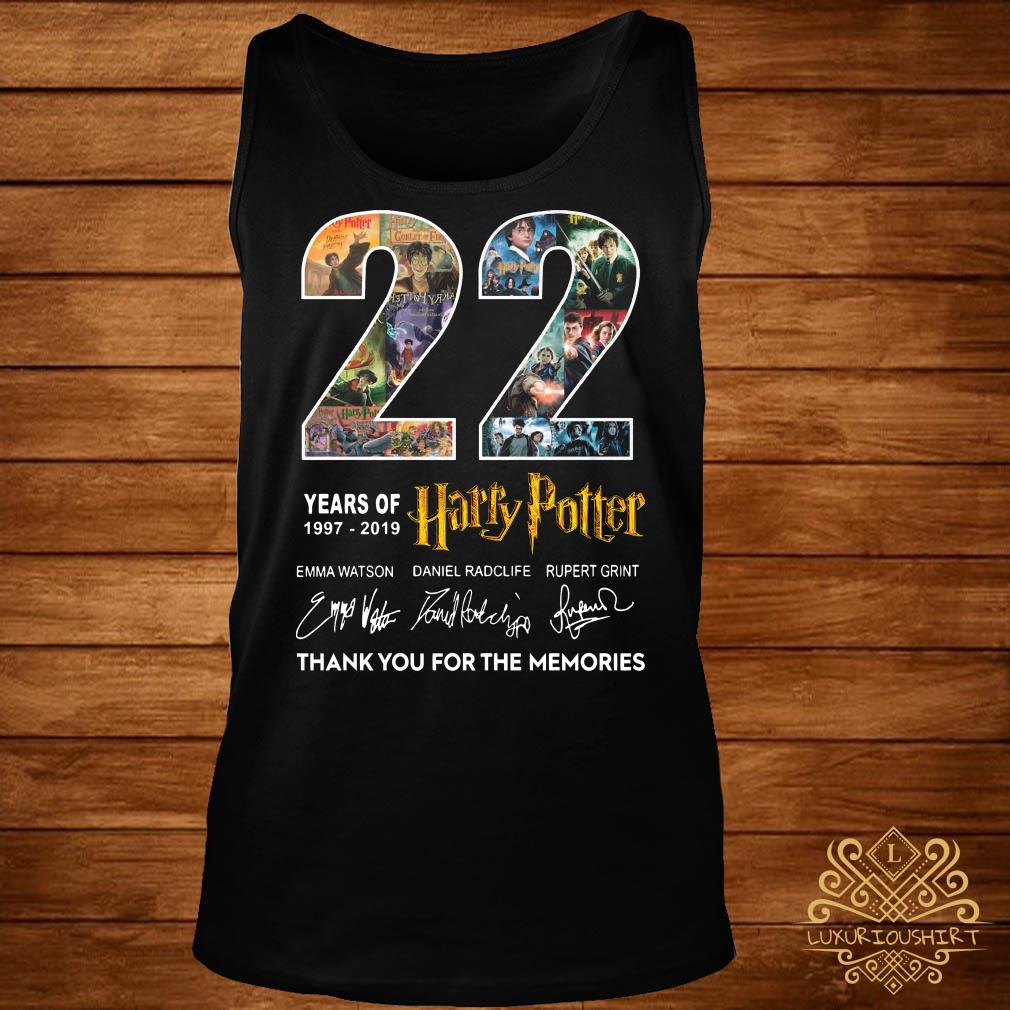 22 Years Of 1977-2019 Harry Potter Thank You For The Memories Tank-top