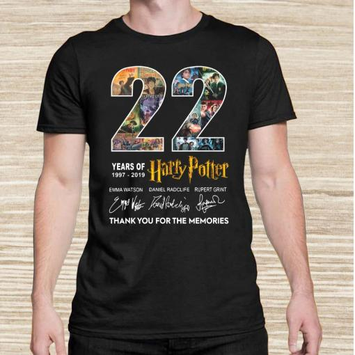 22 Years Of 1977-2019 Harry Potter Thank You For The Memories Unisex
