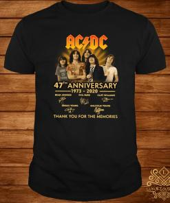 ACDC 47th Anniversary 1973-2020 Thank You For The Memories Shirt