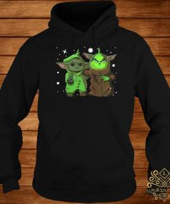 Baby Yoda And Baby Grinch Christmas Hoodie