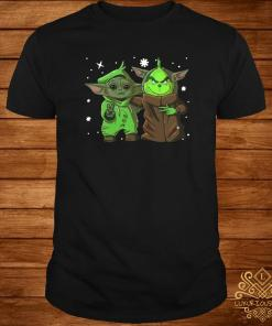 Baby Yoda And Baby Grinch Christmas Shirt